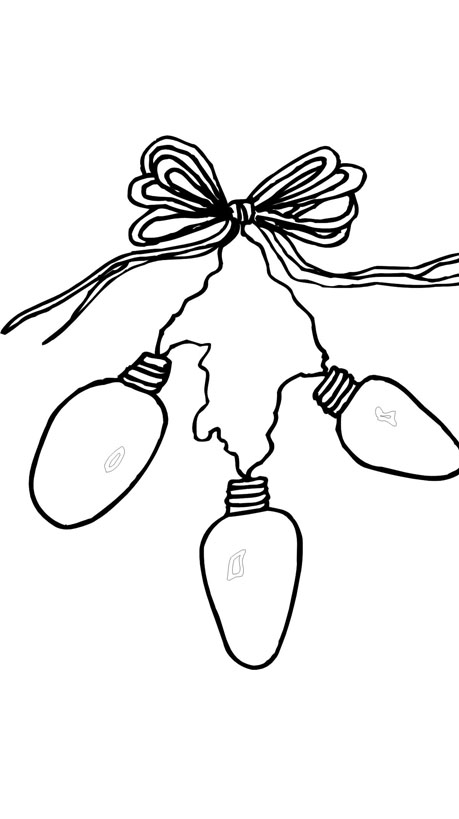 fingerprint christmas light template sketch coloring page