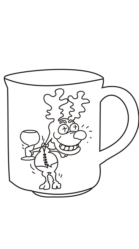 christmas mug coloring pages