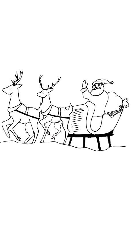 weihnachten malvorlagen santa mit schlitten malvorlagen